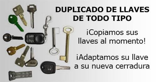 duplicado de llaves de todo tipo, copiamos sus llaves al momento