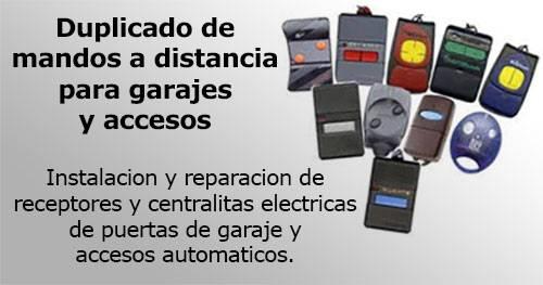 duplicado de mandos a distancia para garajes y accesos