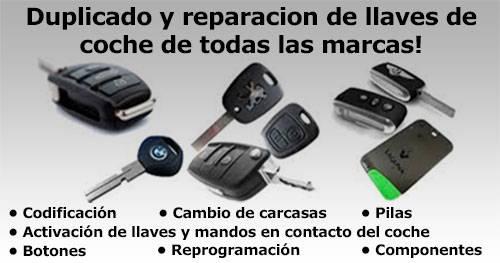 duplicado y reparacion de llaves de coche de todas las marcas