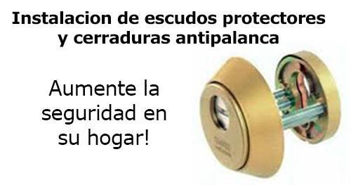 instalacion de escudos protectores y cerraduras antipalanca, aumente la seguridad en su hogar
