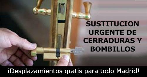 sustitucion urgente de cerraduras y bombillos